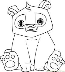 Panda Animal Jam Coloring Page