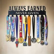 Always Earned Never Given Medal Display For Sports Want To Put In A Teen Girls