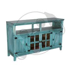 Rustic Turquoise TV Stand