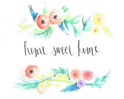 Home Sweet Quote Watercolor Print