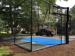 Get The Best Basketball Court For Your Backyard From 360 Sports ... Multisport Backyard Court System Synlawn Photo Gallery Basketball Surfaces Las Vegas Nv Bench At Base Of Court Outside Transformation In The Name Sketball How To Make A Diy Triyaecom Asphalt In Various Design Home Southern California Dimeions Design And Ideas House Bar And Grill College Park Half With Hill