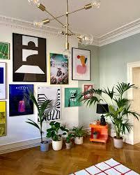 livingroom wohnzimmer bilderwand mint salbei w