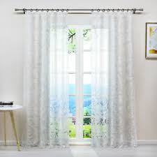 details zu gardinen ausbrenner vorhänge wohnzimmer transparent schlaufen ösen kräuselband