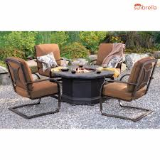 Patio Conversation Sets With Fire Pit by Berkley Jensen Calais 5 Pc Fire Pit Chat Set Bjs Wholesale Club