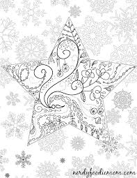 Star Christmas Adult Coloring Page