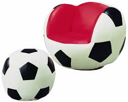Soccer Themed Bedroom Photography by Amazon Com Crown Mark Soccer Chair Ottoman Kitchen U0026 Dining