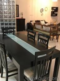PREMIUM Six Seater Solid Wood Dining Table 6X3 With Cushioned Seats