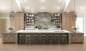 Spacious Galley Kitchen With Island Layout Home Design At