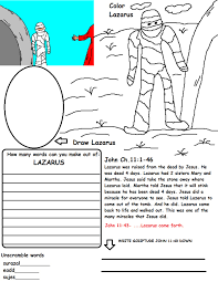 Printable Coloring Pages Lazarus In Page