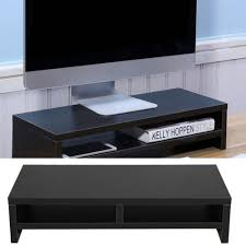 Monitor Stands For Desk by Computer Monitor Stand Desk Table 2 Tier Shelf Laptop Riser Lcd Tv