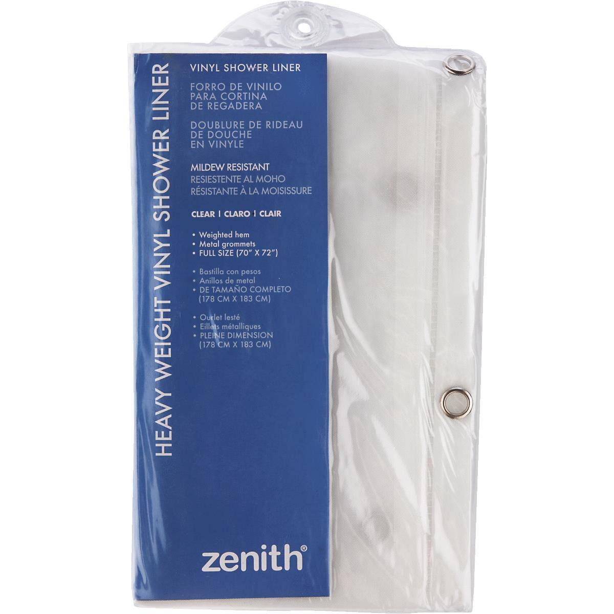 Zenith Products PE71160K Shower Curtain Frost