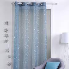 gardine 140 x 260 cm sterne blau
