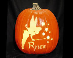 Tinkerbell Pumpkin Stencil by Personalized Custom Carved Foam Pumpkin Name In The Pumpkins
