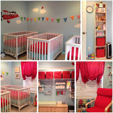 Triplet Airplane Theme Nursery Love The Way They Have Cribs