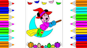 Mickey Mouse Halloween Coloring Pictures by Disney Halloween Coloring Pages Coloring Minnie Mickey Mouse