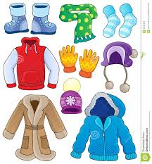 Summer Winter Clothes Clipart