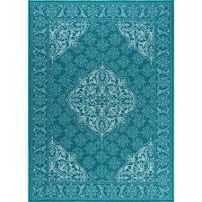 Teal Living Room Rug by Teal 7 X 10 Area Rugs Rugs The Home Depot