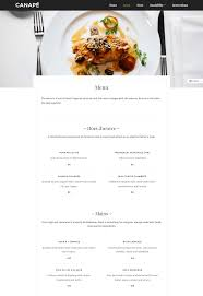 what does canape canapé an free restaurant theme for