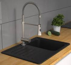 niederdruck gastro spiralfeder küchenarmatur mit brause edelstahloptik