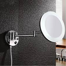 copper wall mount led light 360 degrees rotatating make up mirror