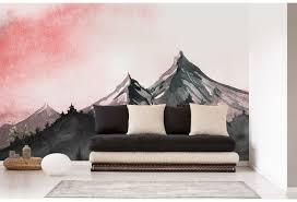 livingwalls fototapete designwalls mountain paint creme grau grün rosa schwarz weiß dd118608 3 50 m x 2 55 m