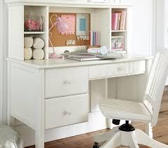 girls white 4 drawer computer desk w hutch chair regarding
