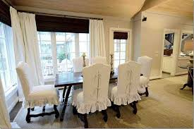 Fantastic White Dining Room Chair Covers With