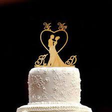 Wedding Cake Topper Bride And Groom Rustic Mr Mrs