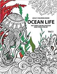 Amazon 1 Ocean Life Coloring Books For Adults A Blue Dream Adult Book Designs Sharks Penguins Crabs Whales Dolphins And Much