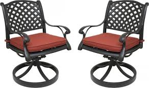 Nevada Cast Aluminum Outdoor Swivel Rocker Chairs With ... Outdoor Chairs Set Of 2 Black Cast Alinum Patio Ding Swivel Arm Chair New Elisabeth Cast Alinum Outdoor Patio 9pc Set 8ding Details About Oakland Living Victoria Aged Marumi In 2019 Armchair Cologne Set Gold Palm Tree Outdoor Chairs Theradmmycom Allinum Fniture A Guide Alinium Rst Brands Astoria Club With Lawn Garden Stools Bar Modway