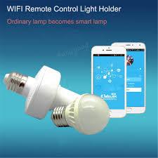 sonoff皰 e27 led wifi light bulb smart app holder base socket
