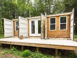 100 Small Homes Made From Shipping Containers A Canadian Man Built This Offgrid Shipping Container Home