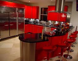 Amazing Of Red Kitchen Ideas Cool Interior Design For Remodeling With Decor Collections