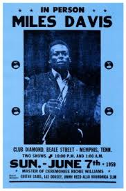 Miles Davis Concert Poster In Person Memphis Tennessee 1959 Trumpet Player