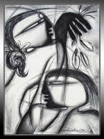 Discription This Is A Beautiful Figurative Abstract Painting It Shows The Silent Love Between Couple