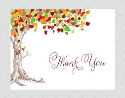 Rustic Tree Wedding Thank You Cards