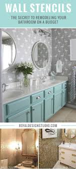 Wall Stencils: The Secret To Remodeling Your Bathroom On A Budget Bathroom Chair Rail Ideas Creative Decoration Likable Tile Small Color Pictures Trainggreen Best Wall Inspiring Decorative Aricherlife Home Decor Pating Colors Beautiful Fresh 100 Decorating Design Ipirations For Bathrooms Made Relaxing Bathroom Ideas Small Decorating On A Budget Storage Apartment Therapy Stencils The Secret To Remodeling Your Budget 37 Fantastic Ghomedecor