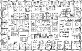 Floor Plan Detailed Map of fice Spaces