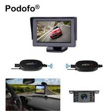 100 Backup Camera System For Trucks Podofo Wireless Rear View And Monitor Kit For Vehicle