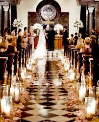 6 Church Wedding Aisle With Candles