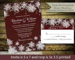Idea Rustic Winter Wedding Invitations And Nter Invitation Set Snowflake Th Awesome