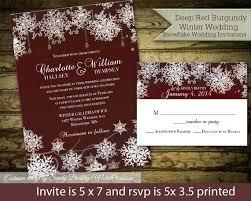 Elegant Rustic Winter Wedding Invitations And