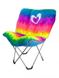Shop Faux Fur Rainbow Butterfly Chair And Other Trendy Girls Chairs Room Decor At Justice Find The Cutest To Make A Statement Today