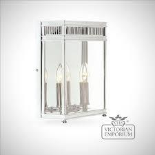 holborn wall lantern in polished chrome medium outdoor wall lights
