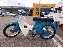 Old Honda C50 1974 Moped Scooter