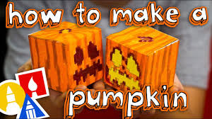 Captain Underpants Pumpkin Carving by How To Make A Minecraft Pumpkin Cutout Youtube