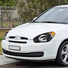 11 hyundai accent replacement headlights black