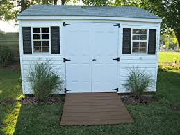 Arrow Storage Sheds Sears by Ramp To Storage Shed In Chocolate With Decorative Grasses In