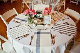 Tea Towel Wedding Table Place Settings