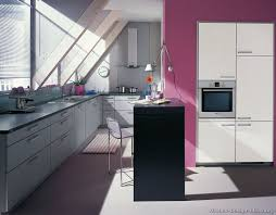 Modern Kitchen With Pink Walls Decor